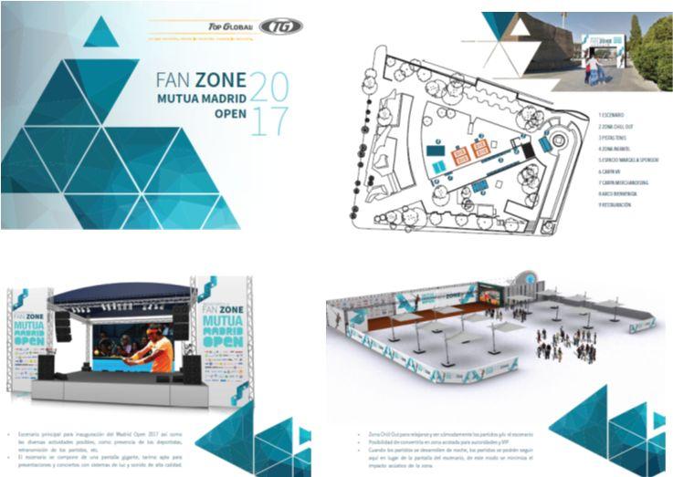 propuesta de diseño fan zone madrid open