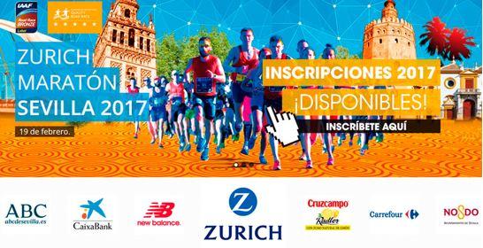 Evento deportivo maratón de Sevilla