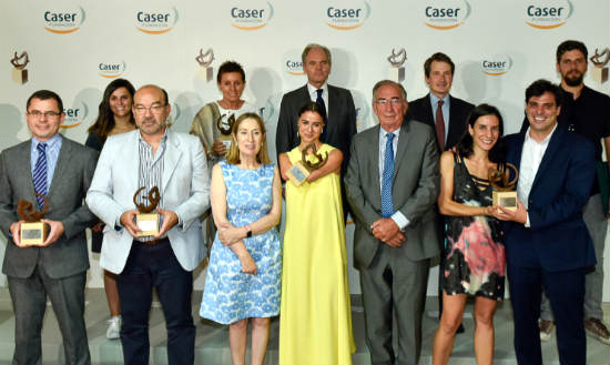 Montaje evento ceremonia entrega premios Fundacion Caser