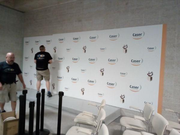montaje evento premios Fundación Caser