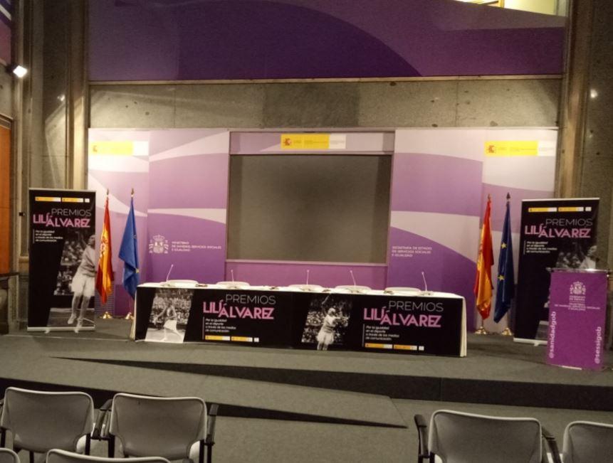 Montaje evento entrega de premios Lili Alvarez